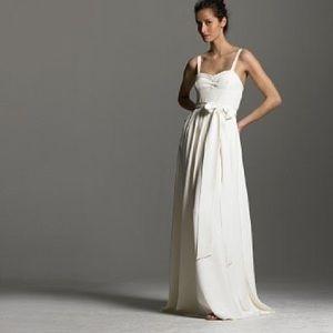 J.Crew Ivory Silk Tricotine Rebecca Wedding Dress
